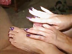 Pretty Purple Toes Footjob