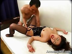 Bound asian babe gets her pussy licked part5