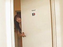 Busty japanese milf Hitomi Tanaka used in public