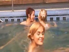 Three italian teenies in the pool