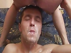 Twink Enjoys Facial Cumshot