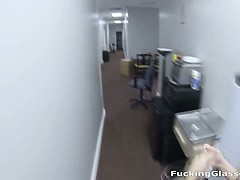 Fucking Glasses - Unexpected office fuck on the floor