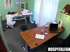 Sexy blonde gets her pussy licked by her doctor