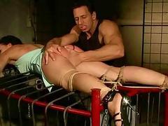 Hot girl gets bondaged and painfully punished