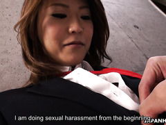 Kinky foreplay with Japanese office slut called Yuria Takeda