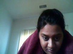Indian BBW hottie showing off her goodies on webcam