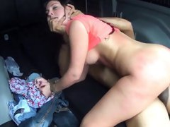 Rough wife dp creampie Car problems in the middle of
