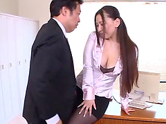 Sayuki Kanno blows and gets fucked hard doggy style