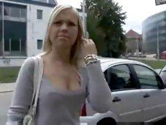Angelic Jerks a Stranger in Public