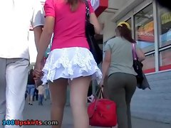 Marvelous girlfriend upskirt clip