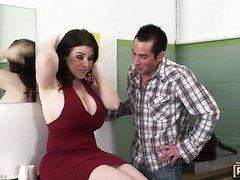 True definition of Daphne Rosen's huge tits!