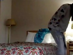 BLONDE college girl se paye 3 blacks a l hotel