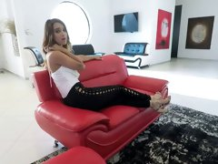 Wonderfully hot and eye catching babe August Ames is really into sucking dick