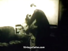 Pastor gets His Cock Sucked and Fucked by Young Girl (Retro)