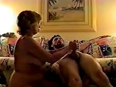 He loses it when she starts rubbing and sucking his cock