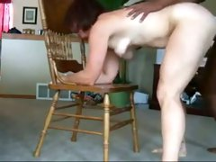 Delightful brunette neighbor with pale skin gets poked with my bbc
