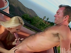 Naughty hot ass sluttie Bobbi Eden plays with huge dick in hot blowjob