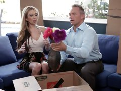 Gorgeous babe Kat Dior fucked hard by a mysterious lover