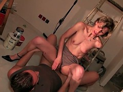 French mom anal fucked hard and facialized in 3way