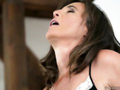 Young dude licks and fucks pussy of mature brunette Mariana