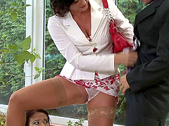 Celine and her best female friend are here to have fun with the cock