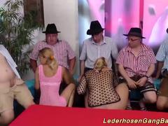 incredible german lederhosen party orgy