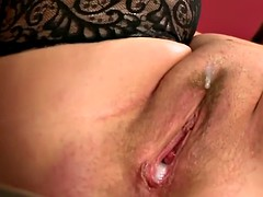 busty mature slut ends up creampied