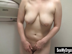 Busty Lili Masturbating In Bathroom