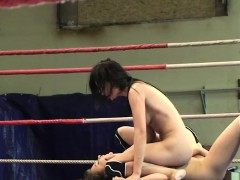 Bigtit beauties wrestling and pussytoying