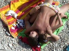 Voyeur clip of a couple shagging