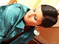 Gabrielle Gucci seduces young stallion and licks his balls