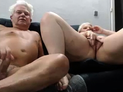 Busty amateur granny relishes an intense drilling on webcam