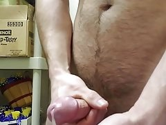 Jerking and playing with cum