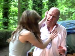 Grandpa and 2 s caught and fucked young girls