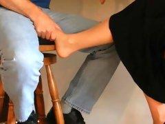Nylon foot in lap