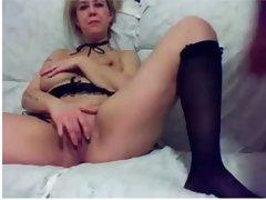 Mature blonde sucking my dick in amateur video