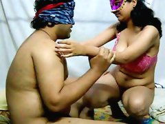 Cock riding porn scene with Indian wife