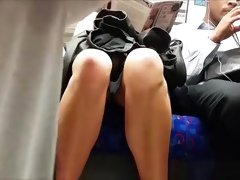 Woman upskirted in metro