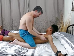 Daddy Fucks Asian Boy Mikal