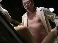 Insatiable Oriental wife has wild sex with a horny old man