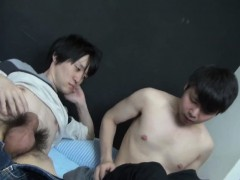 Japanese gay face spunk