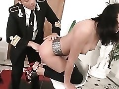 Rocco blown by his skinny cock gobbler