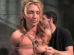 A great Bondage Scene With A Submissive Blonde