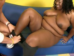 Really fat black chick Daphne Danielsgets poked by horny Christian XXX