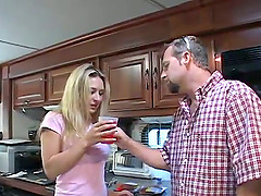 Smoking hot blond milf is riding a big cock