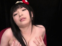 Asian babe takes large cock doggystyle in her shaggy cunt