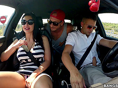 Aletta Ocean gets her bumhole banged from behind outdoors