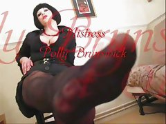 Mistress Polly - Femdom Boss Foot Fetish Slave Training