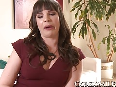 Dana DeArmond fingers her ass while getting her cunt creamed