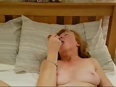 Ella 54 toying ass in front of boyfriend